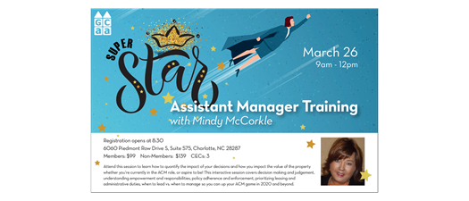 Virtual Superstar Assistant Manager Training with Mindy McCorkle