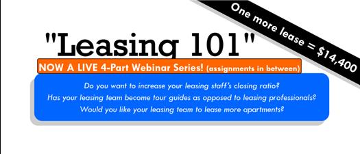 Virtual Leasing 101 Series