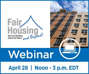 Fair Housing and Beyond Webinar April 30, 2020