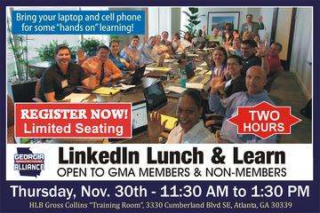 LinkedIn Lunch & Learn - November 30 - Atlanta - Georgia