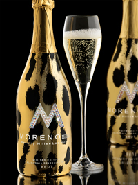 Moreno Sparkling Wine with Metallic Leopard Print