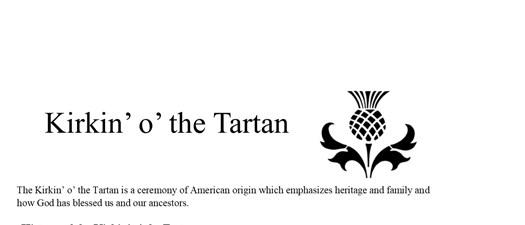 Kirkin' o' the Tartan