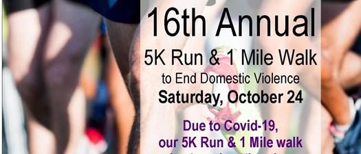 16th Annual 5K Run & Walk - Virtually