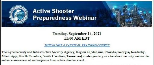 Active Shooter Preparedness Webinar