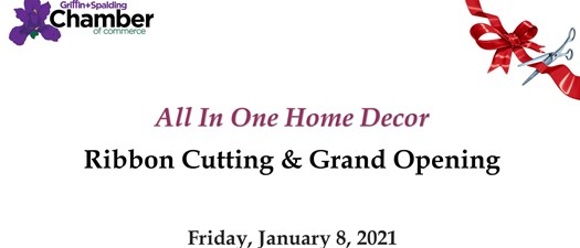 Ribbon Cutting - All in One Home and Decor