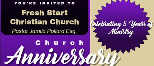 Fresh Start Christian Church 5th Anniversary