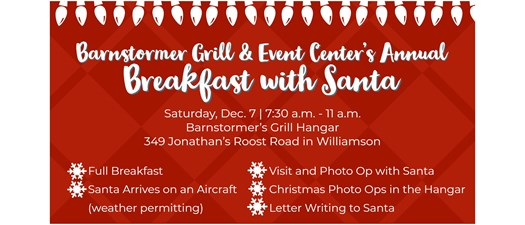 Barnstormer's Grill Annual Breakfast with Santa 2019