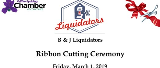 B & J Liquidators Ribbon Cutting