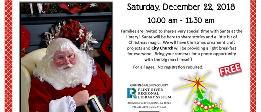 Breakfast with Santa at the Library