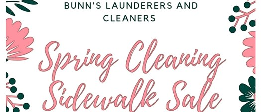 Bunn's Cleaners Spring Cleaning Sidewalk Sale