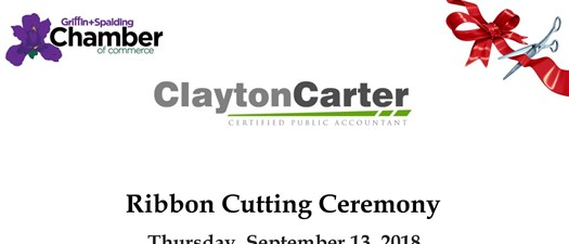 Clayton Carter Ribbon Cutting