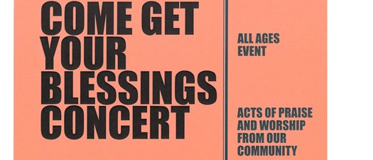 Come Get Your Blessings Concert