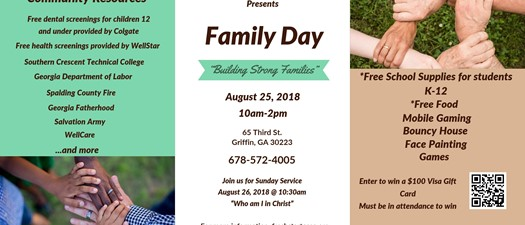 Family Day 2018 - Fresh Start Christian Church
