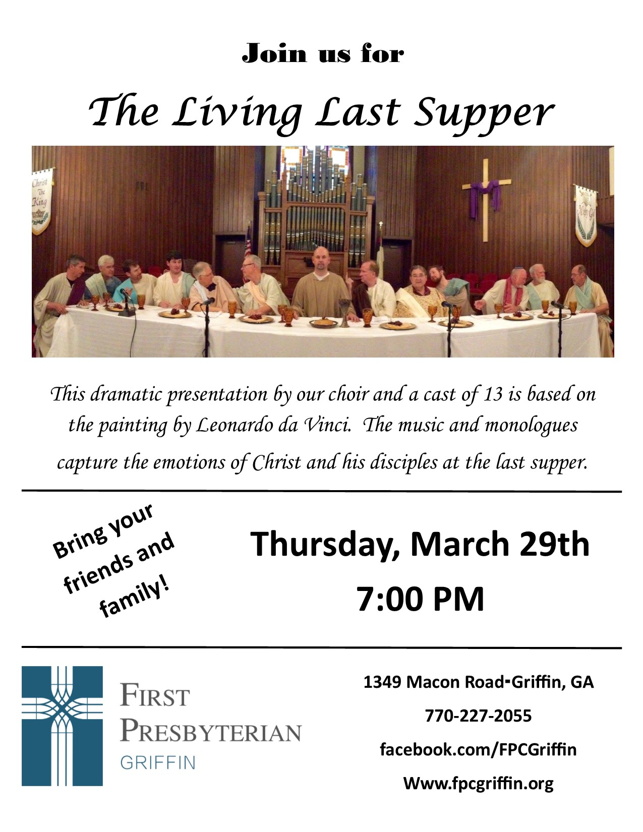 First Presbyterian's The Living Last Supper
