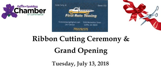 First Rate Towing Ribbon Cutting & Grand Opening