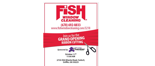 Ribbon Cutting - Fish Window Cleaning