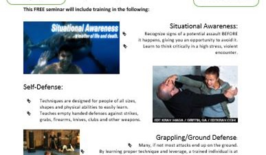 Championship Martial Arts FREE Self Defense Seminar