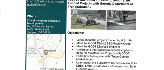 GDOT: District 3 Outreach