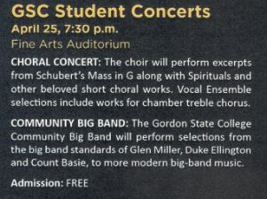 Gordon State College Student Concerts