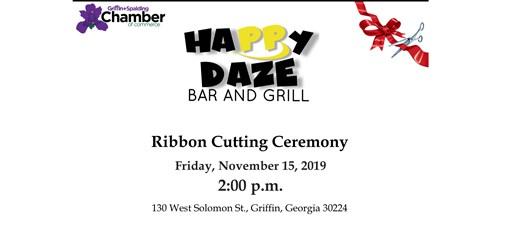 Ribbon Cutting - Happy Daze Bar and Grill