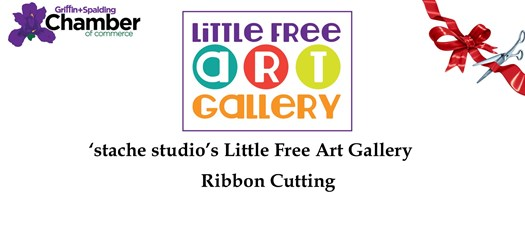 Ribbon Cutting - Little Free Art Gallery