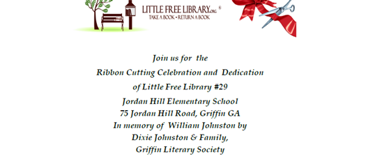 Little Free Library #29 Ribbon Cutting and Dedication