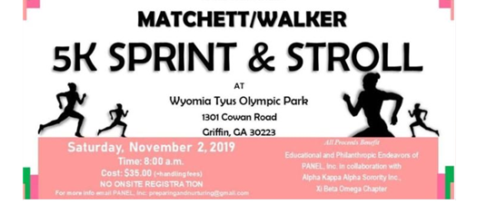 3rd Annual Matchett/Walker 5K Sprint & Stroll