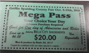 Kiwanis Fair MEGA tickets