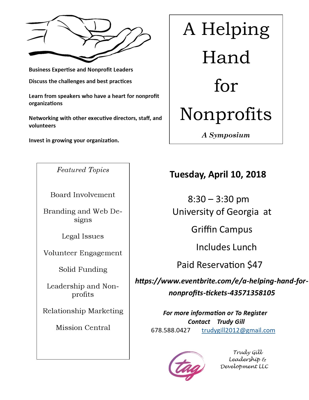 Helping Hand for Non-Profits Symposium