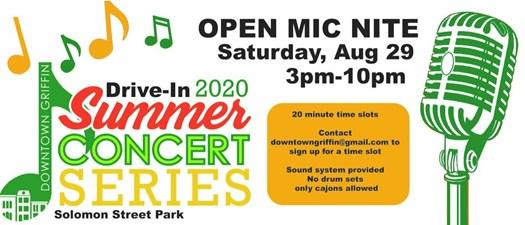 Summer Concert Series - Open Mic Night