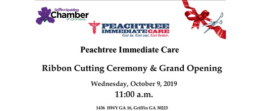 Ribbon Cutting - Peachtree Immediate Care