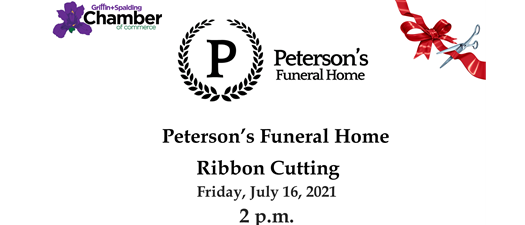 Ribbon Cutting - Peterson's Funeral Home