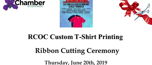 Ribbon Cutting - RCOC Custom T-Shirt Printing