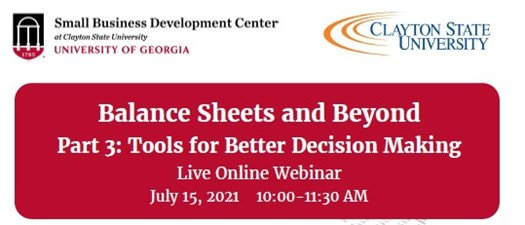 SBDC Balance Sheets and Beyond Part 3