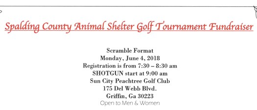 Spalding County Animal Shelter Golf Tournament