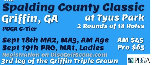 The Spalding County Classic Disc Golf Tournament 2021