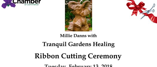 Ribbon Cutting- Millie Danns with Tranquil Gardens