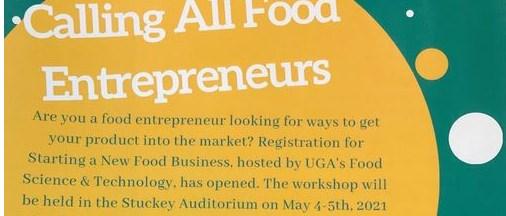 UGA workshop - Starting a New Food Business