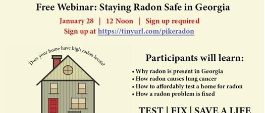 Free Webinar:  Staying Radon Safe in Georgia