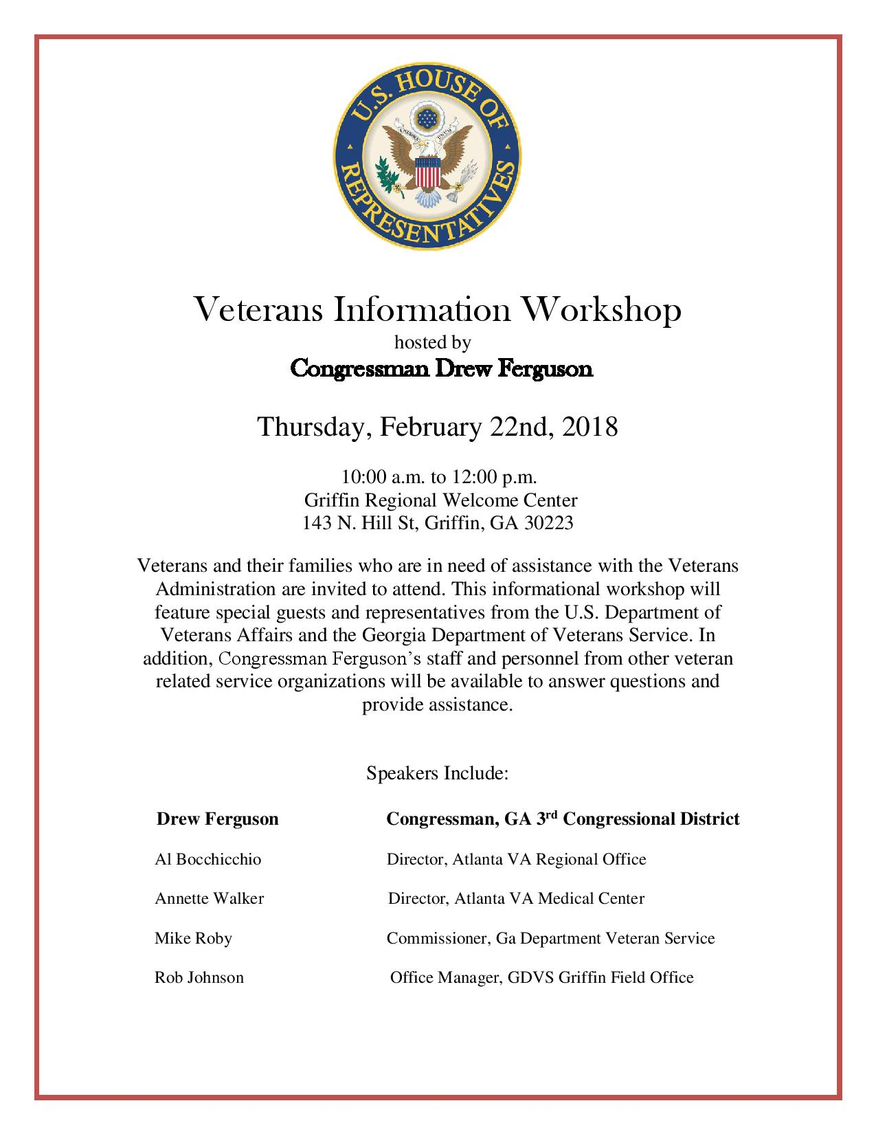 Veterans Information Workshop