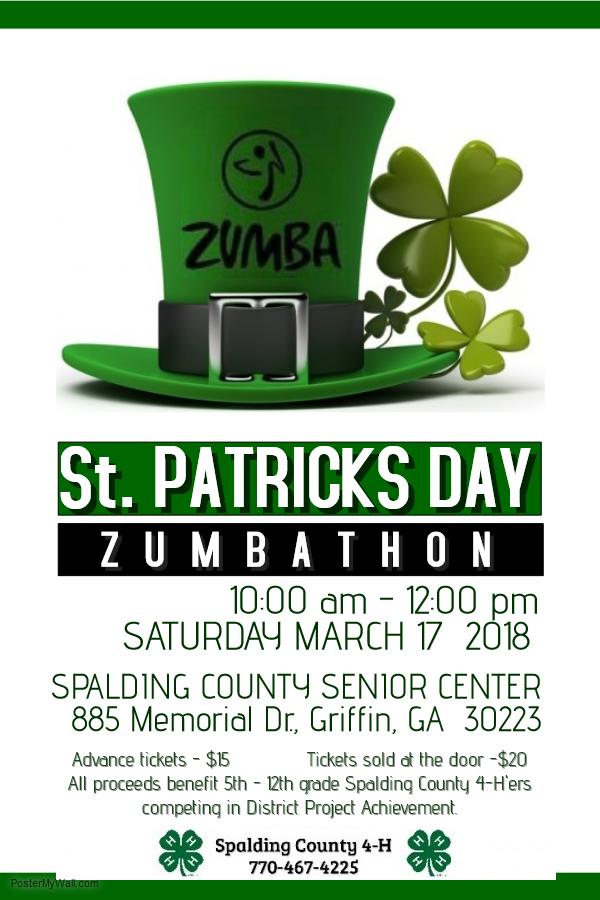 St Patrick's Day Zumbathon