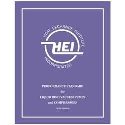 (HEI-2854) book MBR - PERFORMANCE STANDARDS FOR LIQUID RING VACUUM PUMPS AND COMPRESSORS 5TH EDITION