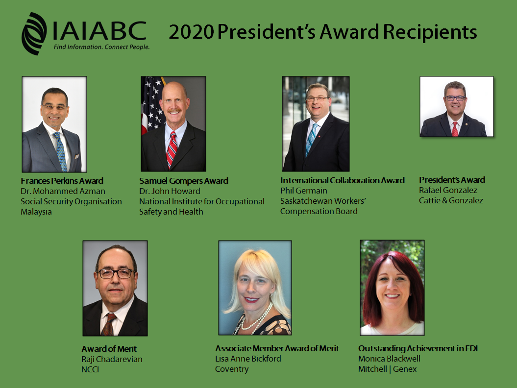 2020 IAIABC President's Award Recipients