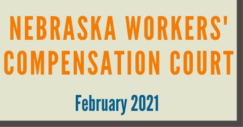 Nebraska February 2021