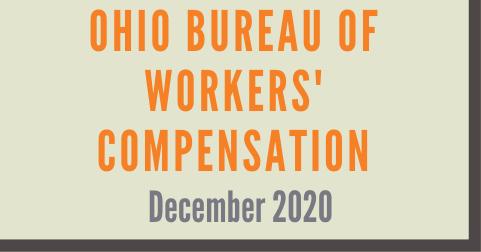 Ohio Bureau of Workers' Compensation December 2020