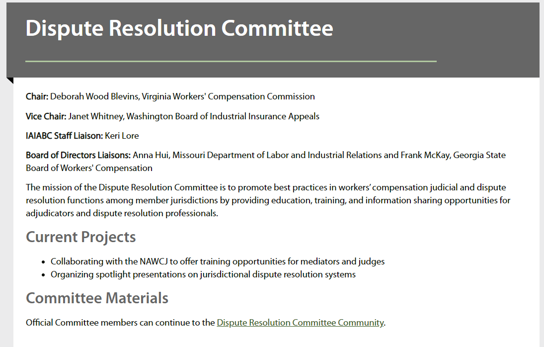 Committee Community