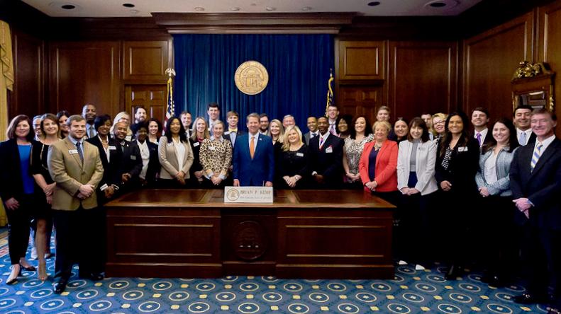 LA Class with Georgia Governor