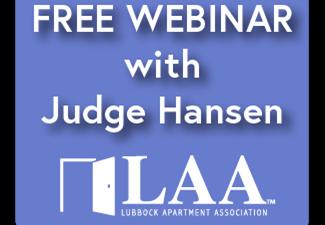 Evictions Update Webinar with Judge Hansen