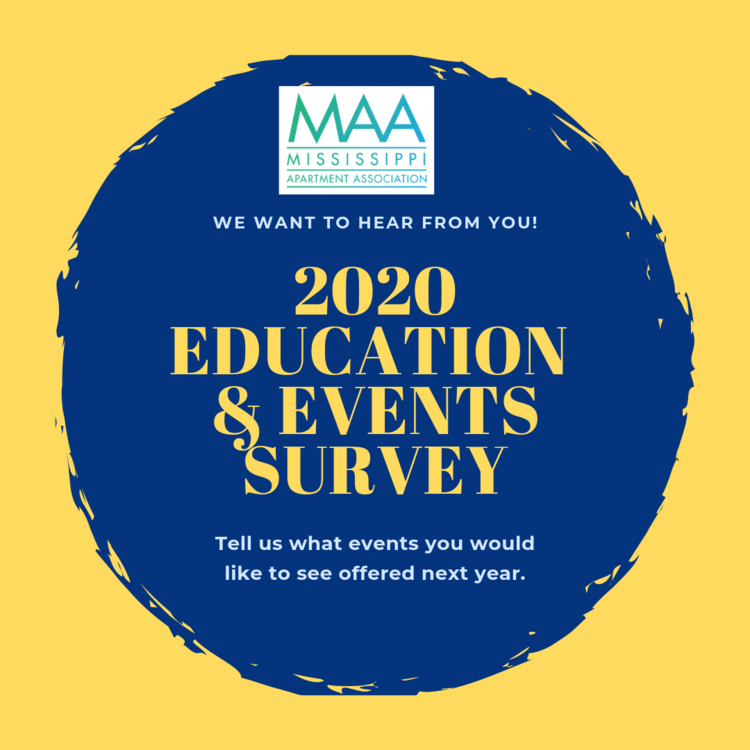 Events In Mississippi 2020.Education Events Survey Maa Mississippi Apartment