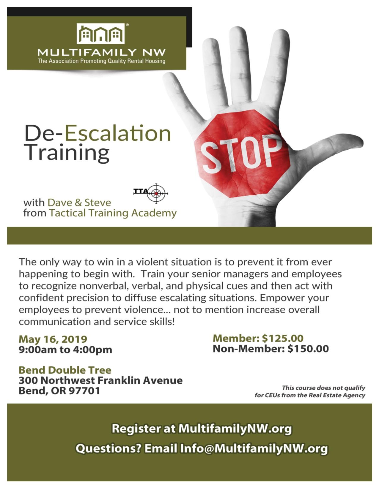 De-Escalation Training - Bend - Multifamily NW